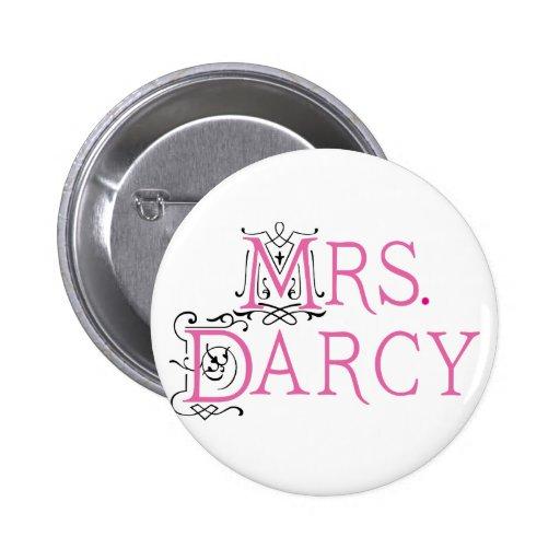 Jane Austen Mrs Darcy Gift Buttons