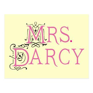 Jane Austen Mrs Darcy Gift Postcard