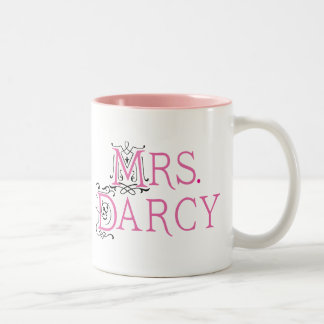 Jane Austen Mrs Darcy Gift Two-Tone Coffee Mug