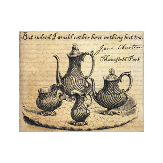 Jane Austen: Nothing But Tea Canvas Print