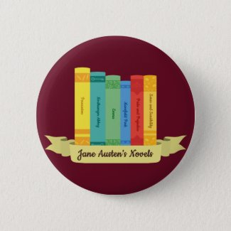 Jane Austen Novels III 6 Cm Round Badge