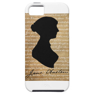 Jane Austen Page Silhouette iPhone 5 Case