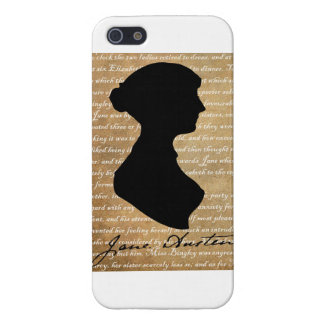 Jane Austen Page Silhouette Case For iPhone 5