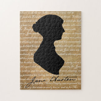 Jane Austen Page Silhouette Jigsaw Puzzle