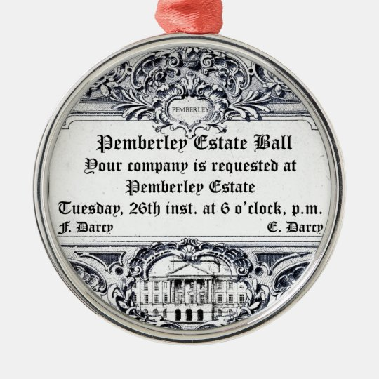 Jane Austen: Pemberley Estate Ball Christmas Ornament