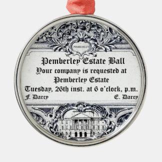 Jane Austen: Pemberley Estate Ball Silver-Colored Round Decoration