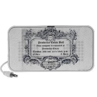 Jane Austen Pemberley Estate Ball Notebook Speakers