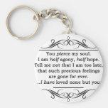 Jane Austen Persuasion Quote Basic Round Button Key Ring