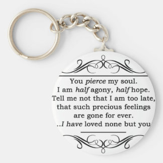 Jane Austen Persuasion Quote Basic Round Button Key Ring