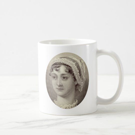 Jane Austen Portrait and Quote Nothing but tea