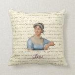 Jane Austen Portrait and Quote PIllow P&P S&S