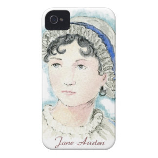 Jane Austen Portrait by Alice Flynn iPhone 4 Cases
