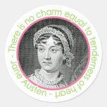 Jane Austen Portrait With Quote Stickers