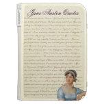 Jane Austen Portrait with Quotes Kindle Case