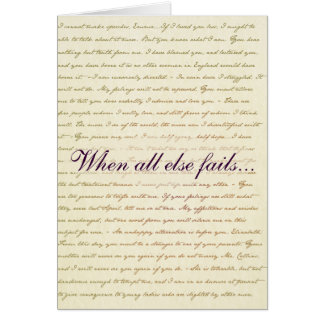 Jane Austen Pride and Prejudice Lizzie Bennet card