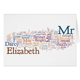 Jane Austen - Pride and Prejudice - Words Card