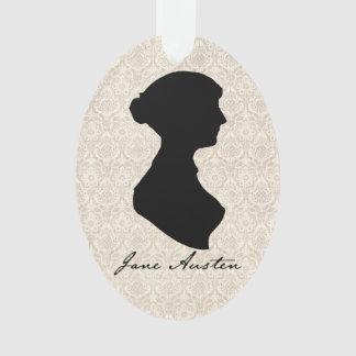 Jane Austen profile silhouette Ornament