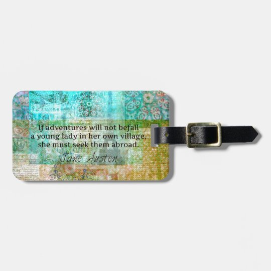 Jane Austen quote about adventure and travel Luggage