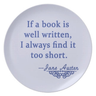 Jane Austen Quote about Books Plate