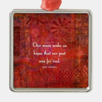 Jane Austen quote about life experiences Christmas Ornament