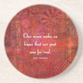 Jane Austen quote about life experiences Drink Coaster