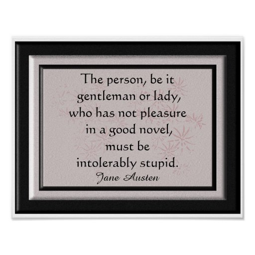 Jane Austen quote - art print