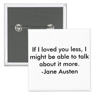 Jane Austen Quote Button