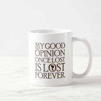 Jane Austen Quote Good Opinion Basic White Mug