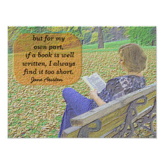 Jane Austen quote - poster art