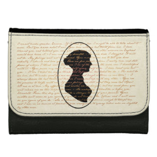 Jane Austen Quotes and Portrait Medium Style Wallet