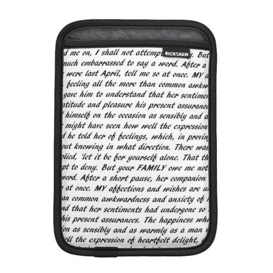Jane Austen Quotes Double-Sided iPad Mini Sleeve