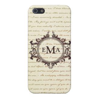 Jane Austen Quotes Monogram Initials Pride iPhone 5 Covers
