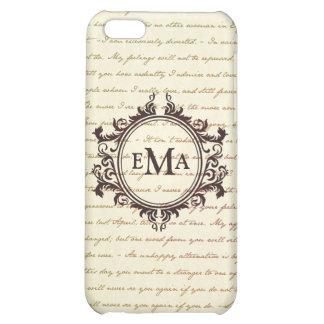 Jane Austen Quotes Monogram Initials Pride iPhone 5C Cover