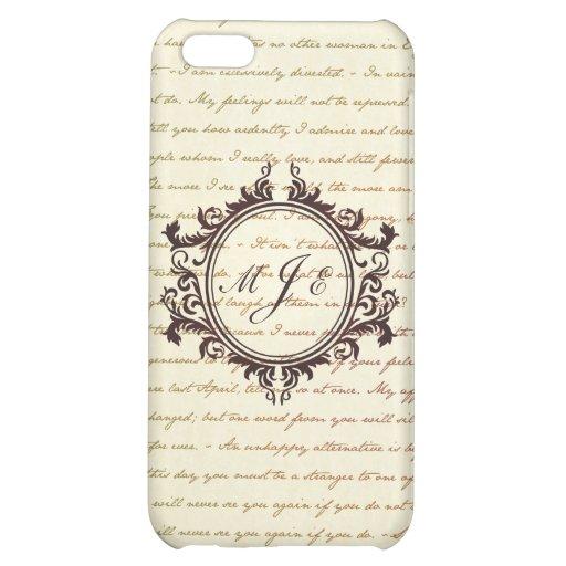 Jane Austen Quotes Monogram Initials Script iPhone 5C Cover