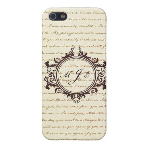 Jane Austen Quotes Monogram Initials Script iPhone 5 Cover