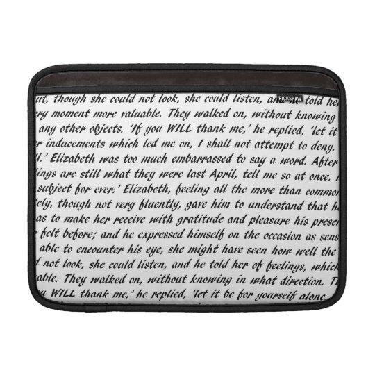 Jane Austen Quotes Sleeve For MacBook Air