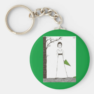 Jane Austen rice Key Chain