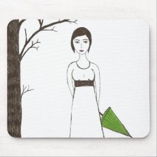 Jane Austen s rice Portrait Mouse Pads