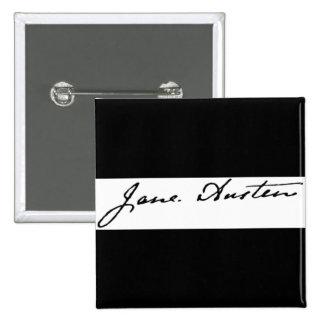 Jane Austen Signature 15 Cm Square Badge
