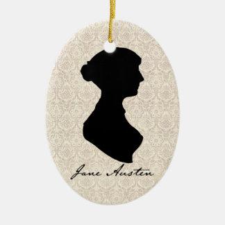Jane Austen silhouette profile Christmas Ornament