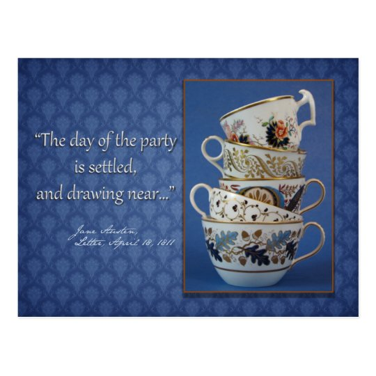 Jane Austen Tea Party Invitation Postcard
