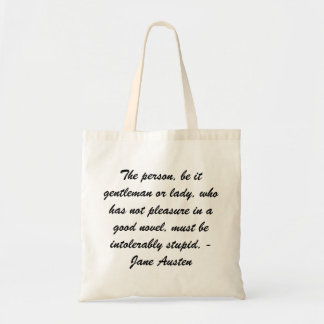 Jane Austen tote Budget Tote Bag