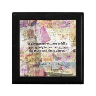Jane Austen travel adventure quote Gift Box