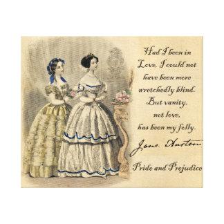 Jane Austen: Vanity Stretched Canvas Print