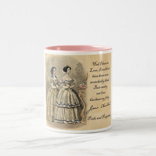 Jane Austen: Vanity Two-Tone Coffee Mug