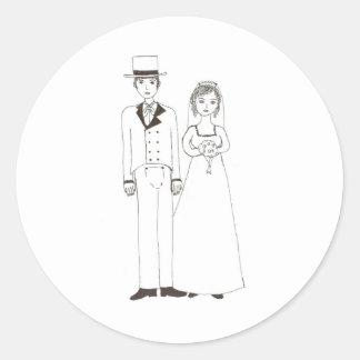 Jane Austen Wedding Classic Round Sticker