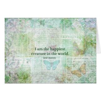 Jane Austen whimsical quote Pride and Prejudice Card