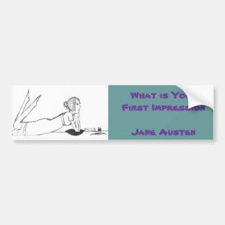 Jane Austen Writing Bumper Sticker