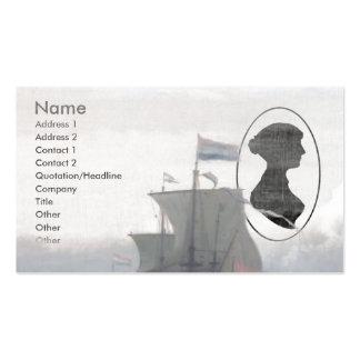 Jane Austen writing Business Card Templates