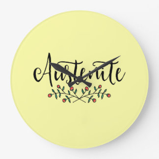 Jane Austen Yellow Floral Austenite Large Clock